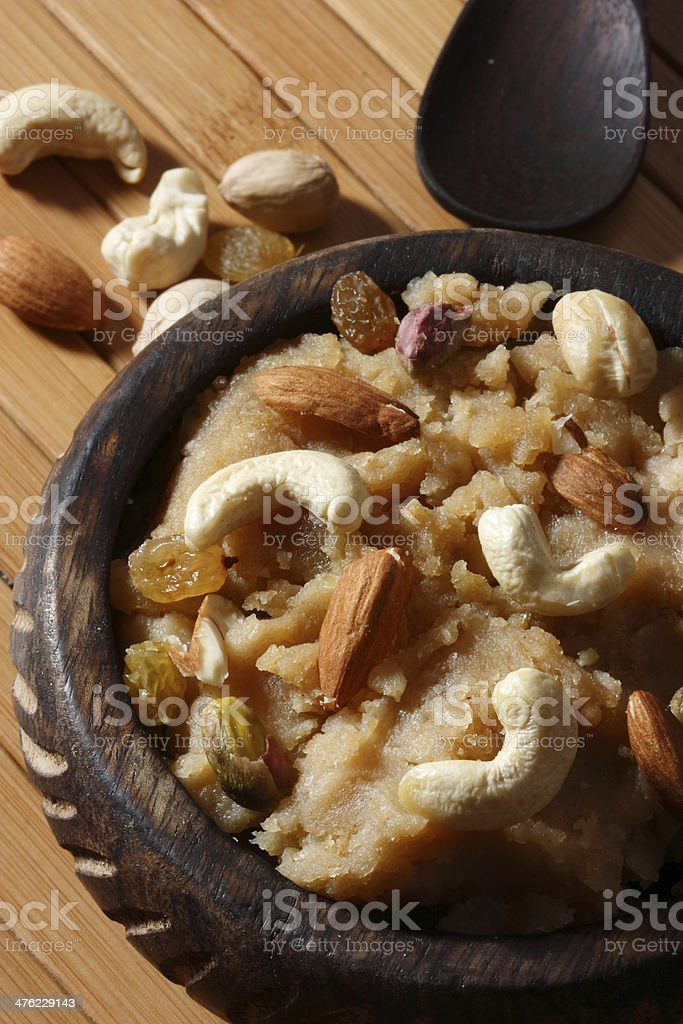 Atte ji sero – A Dessert from Sindhi Cuisine stock photo