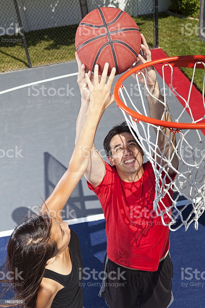 Attempted Block stock photo