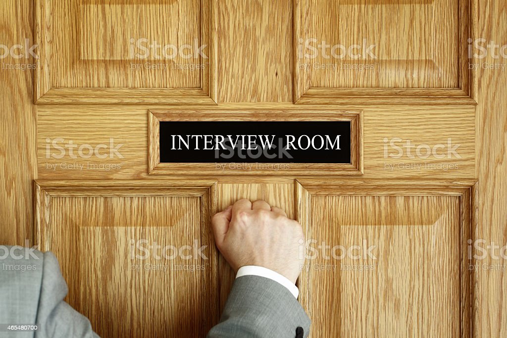 Attending an interview stock photo