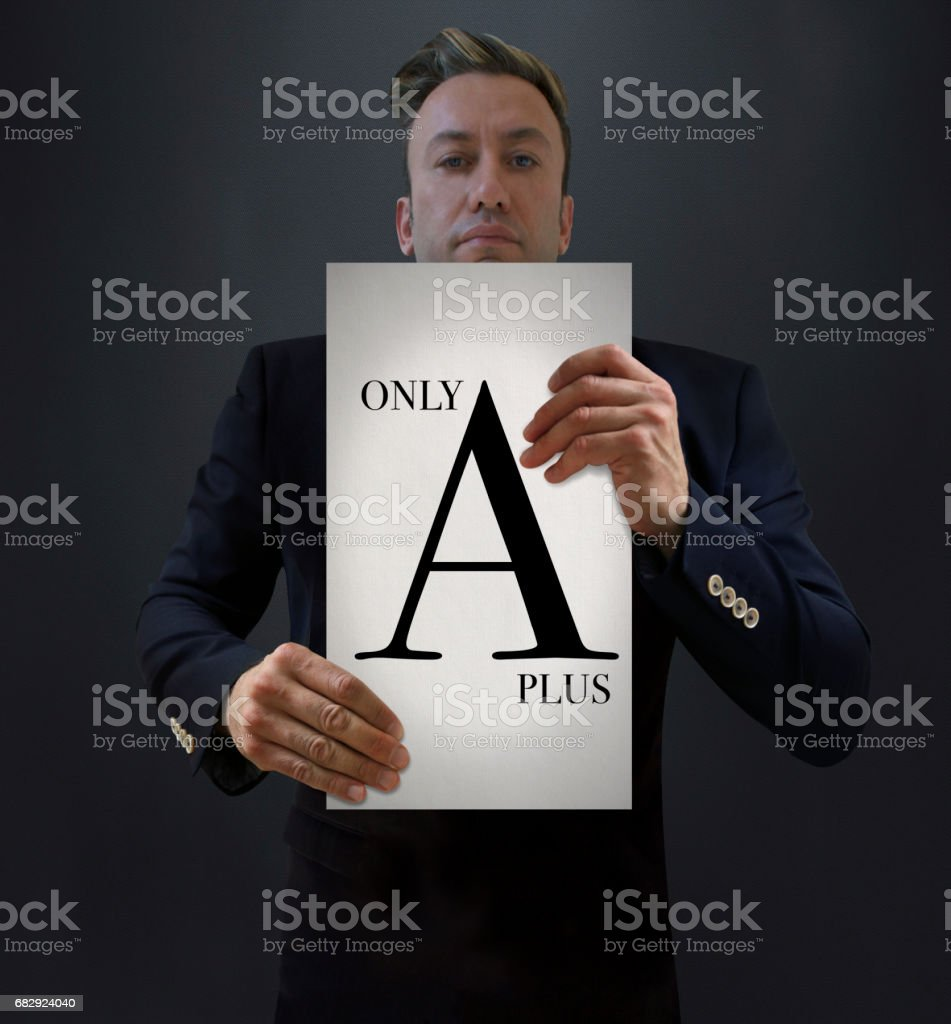Attention: A Plus Guests Only! stock photo