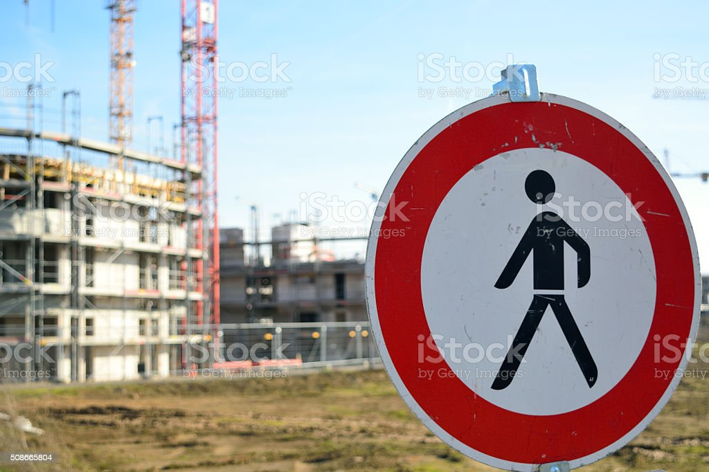 Achtung Baustelle stock photo