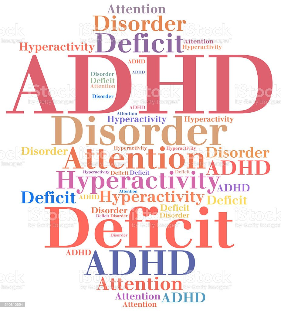 ADHD - Attention deficit hyperactivity disorder. stock photo