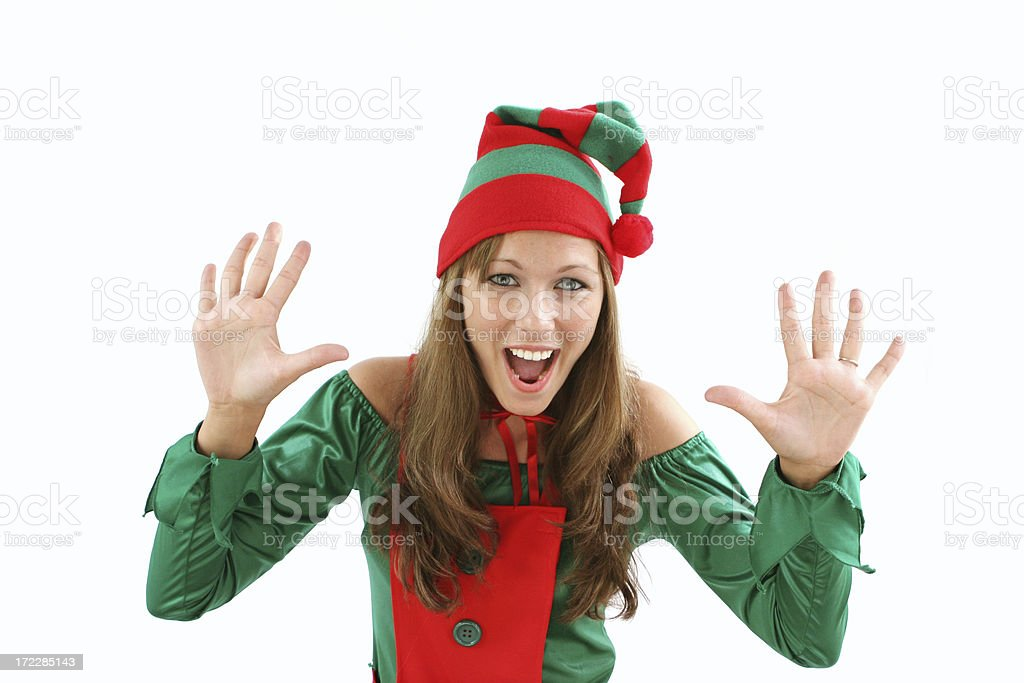 Attention getting Elf royalty-free stock photo