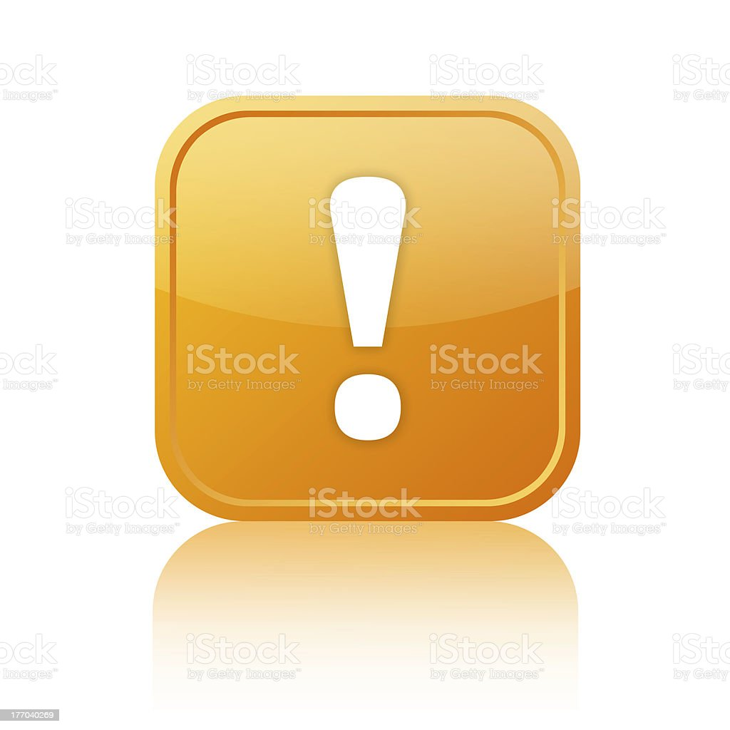 Attention icon with exclamation point royalty-free stock photo