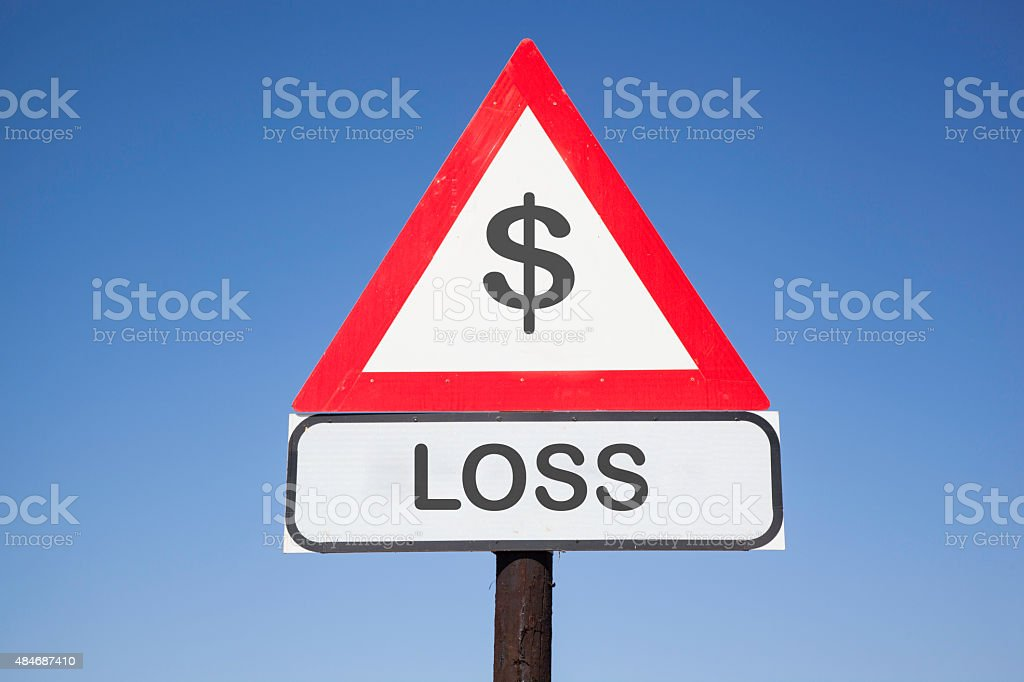 Attention $ loss stock photo