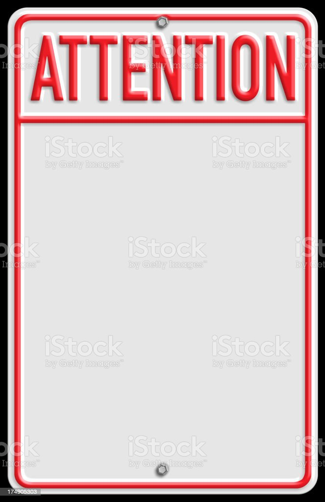 Attention! royalty-free stock photo