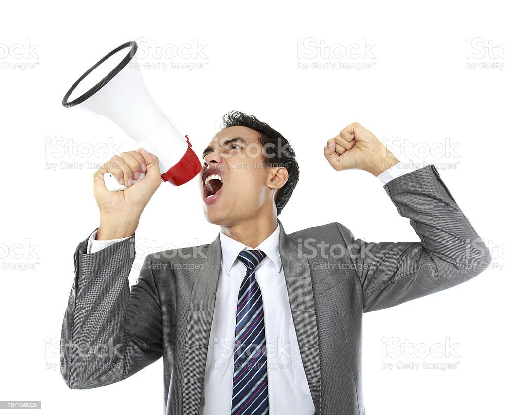 Attention please royalty-free stock photo