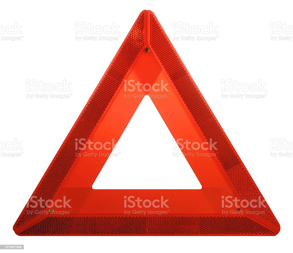 Attention: Red Hazard Danger Ahead Iconic Safety Warning Triangle Sign royalty-free stock photo