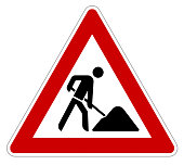attention roadworks sign