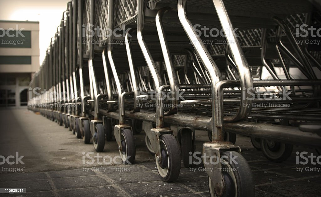 Attention Shoppers 2 royalty-free stock photo