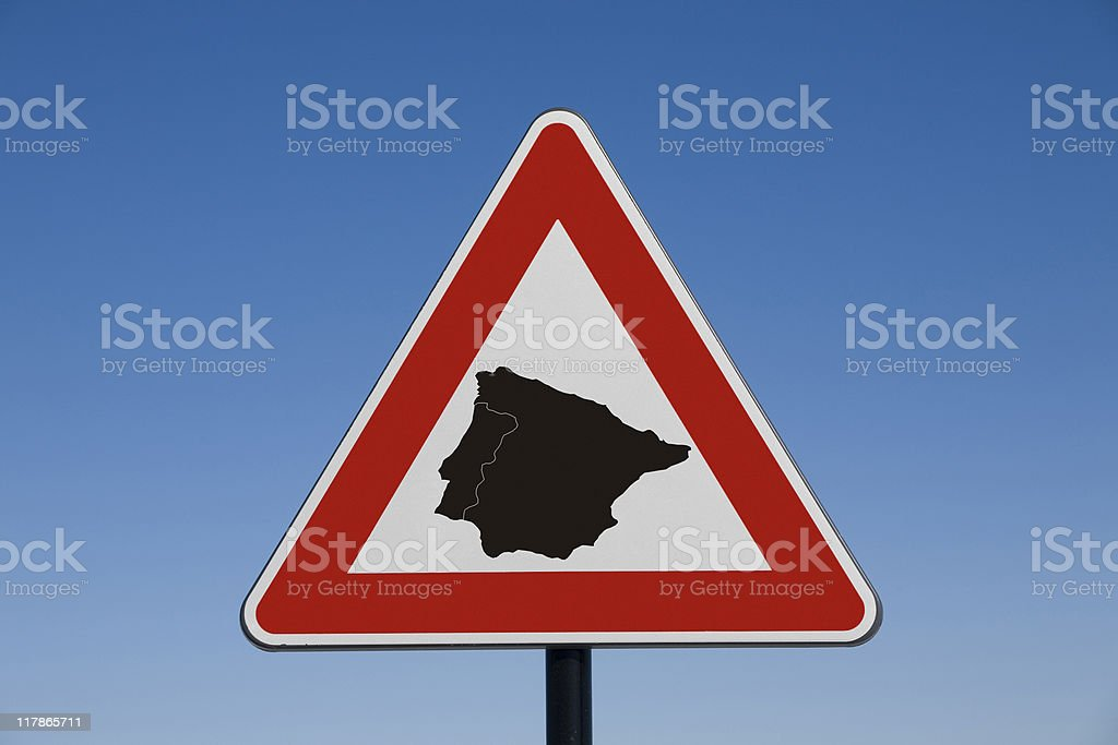 Attention Spain royalty-free stock photo