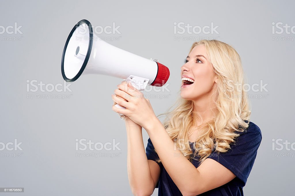 Attention! This is big news! stock photo