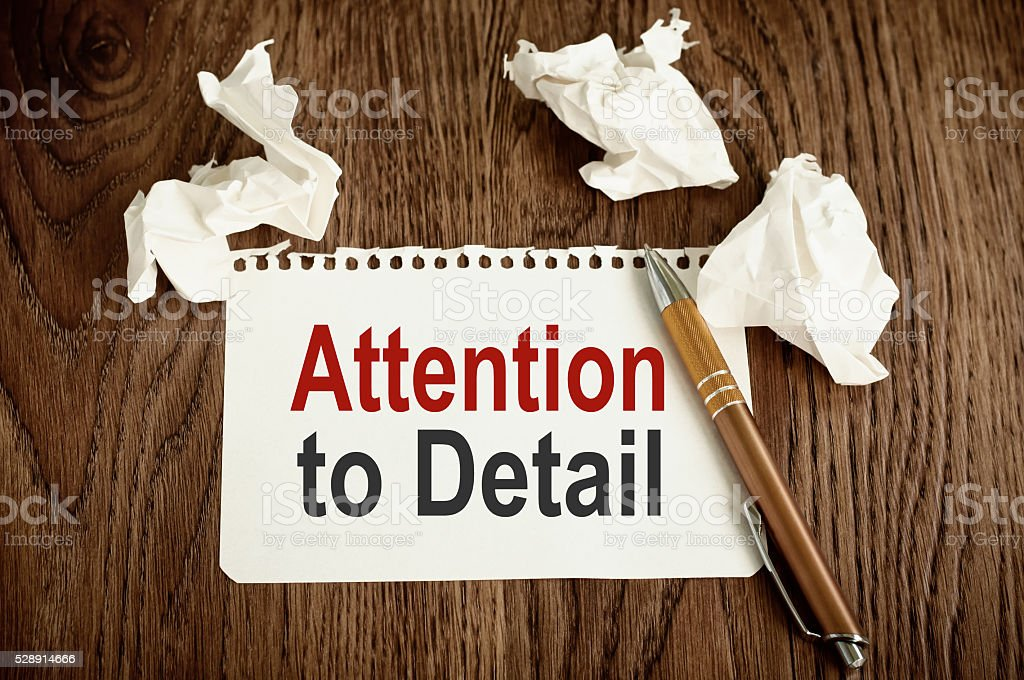Attention to Detail stock photo