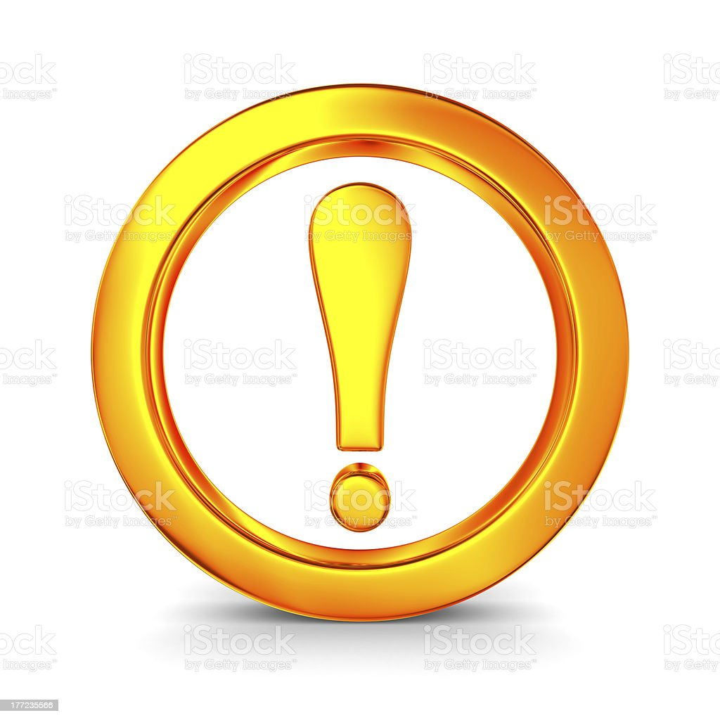 Attention. traffic sign on white background. Isolated 3D image royalty-free stock photo