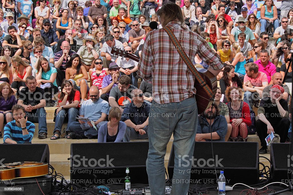 Attentive Audience stock photo
