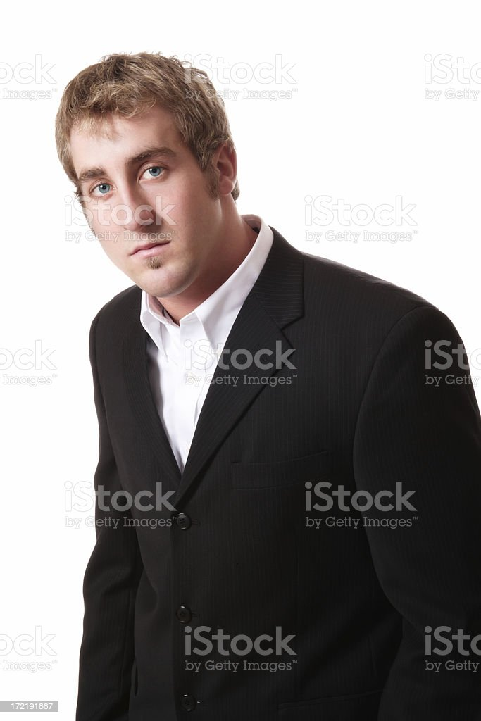 Attentive Businessman stock photo