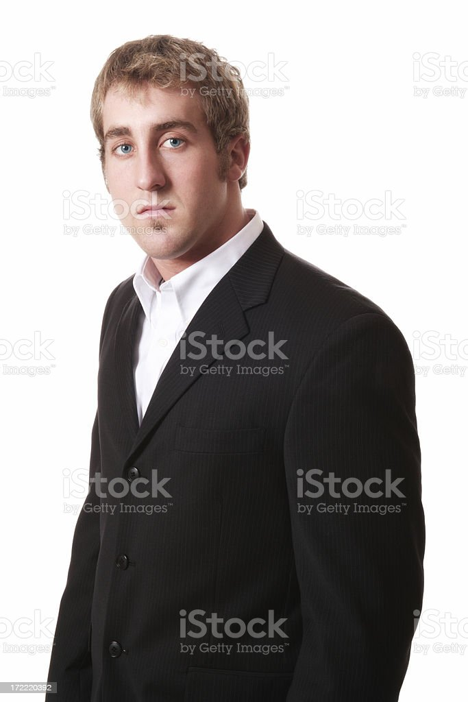 Attentive Businessman royalty-free stock photo