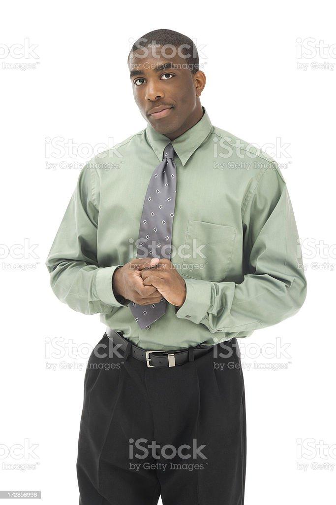 Attentive Businessman stock photo