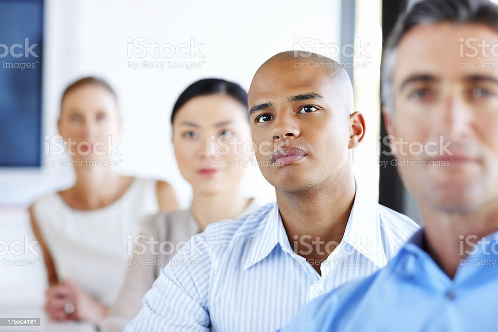 Attentive Male Executive In Meeting royalty-free stock photo
