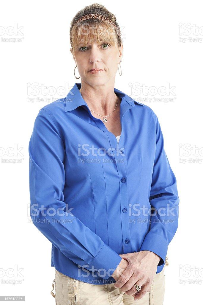 Attentive Mature Woman royalty-free stock photo
