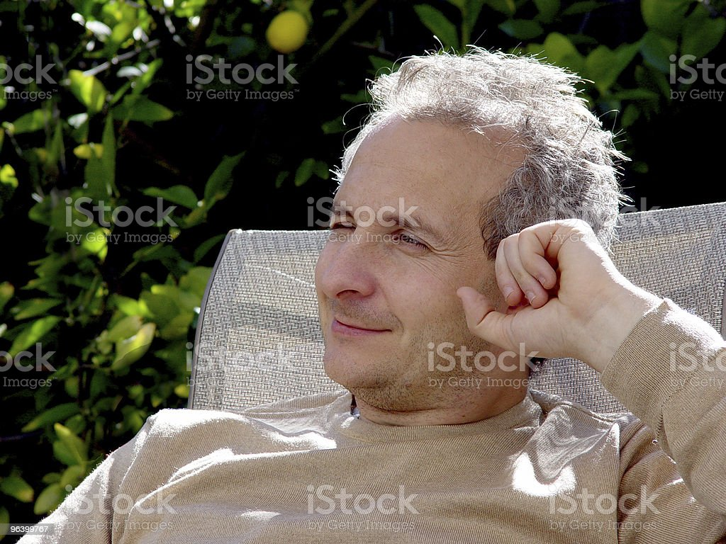 Attentive middleage man royalty-free stock photo