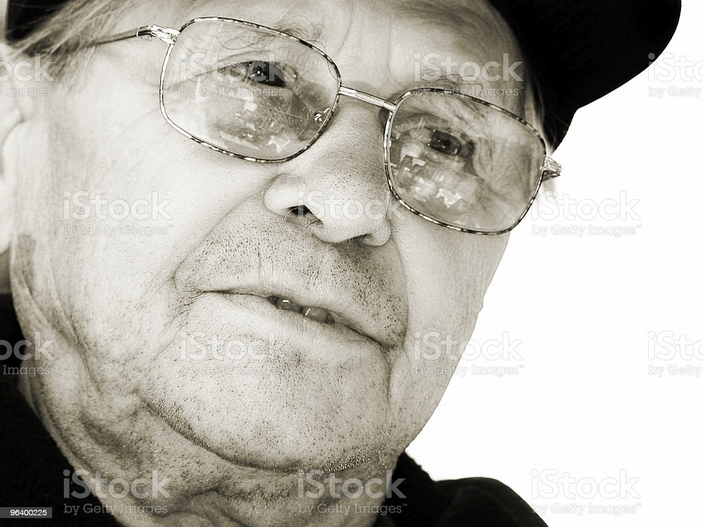 Attentive old man royalty-free stock photo