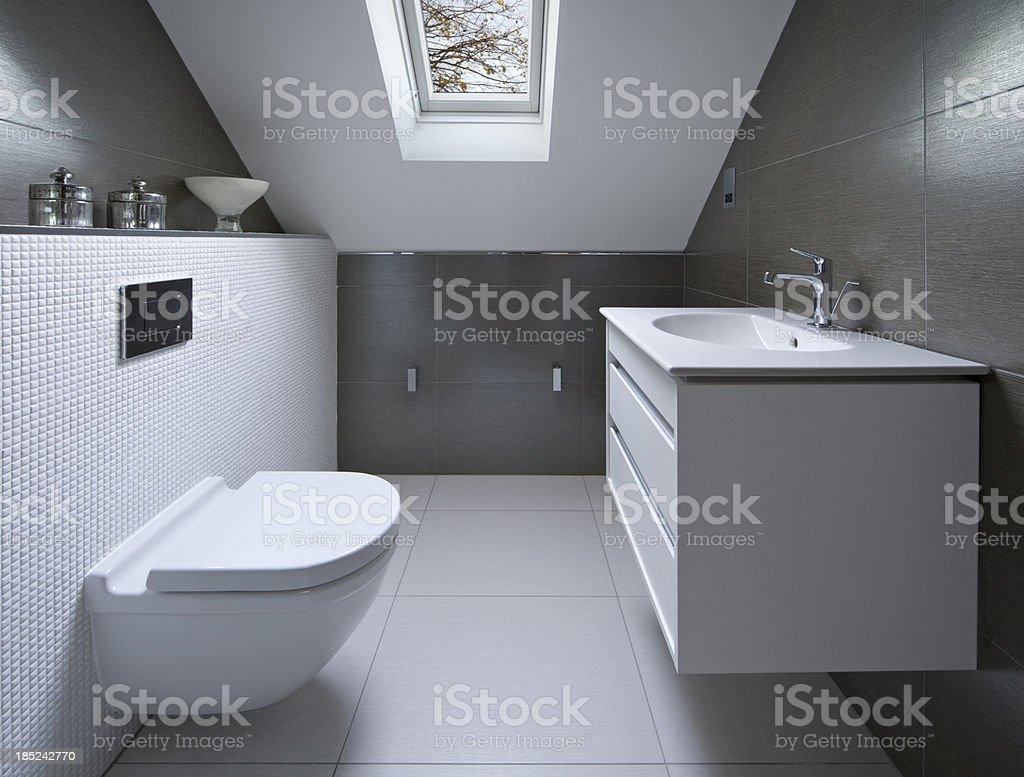 attic bathroom royalty-free stock photo
