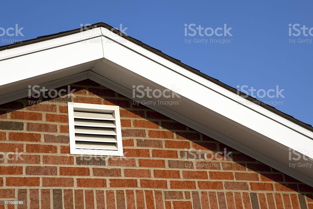 Attic Gable Ventilation stock photo