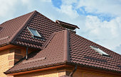 Attic skylights, gutter system, roof windows and roof protection