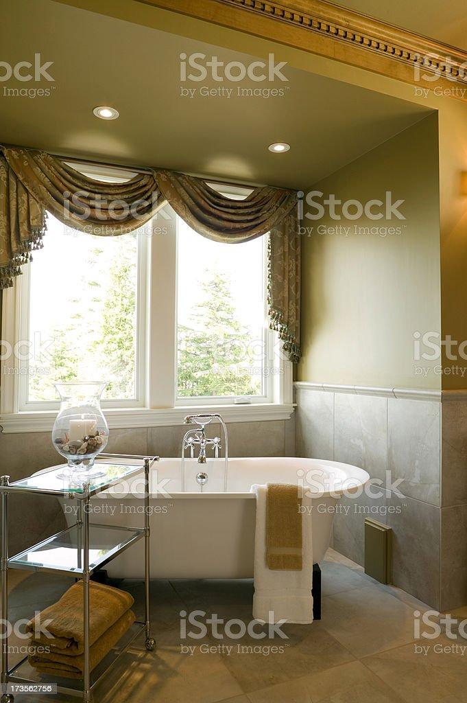 attic washroom bathtub home bathroom stock photo