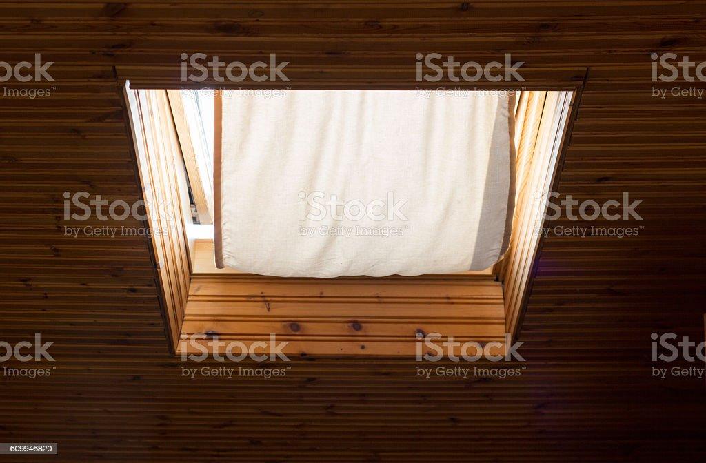 Attic window stock photo