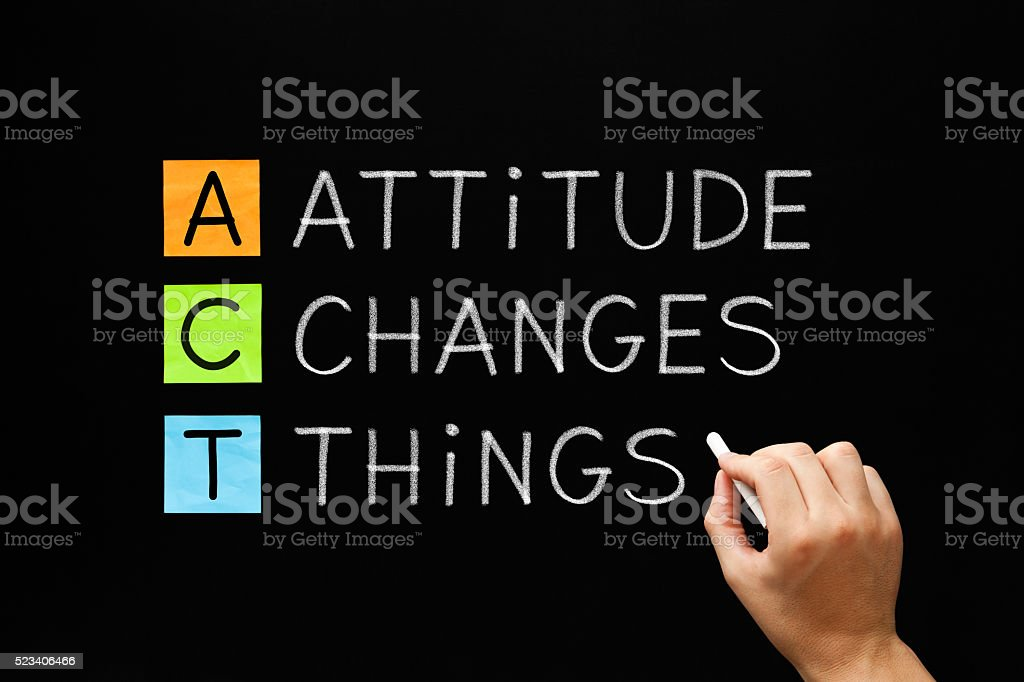 Attitude Changes Things stock photo