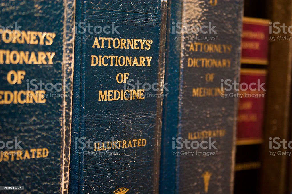 Attorney Medical Dictionary stock photo