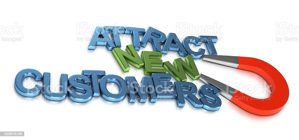 Attract New Customers, Business Development stock photo
