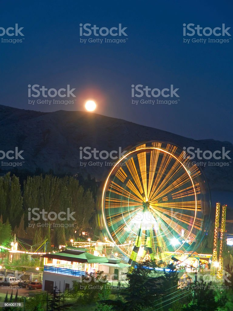 Attraction at night royalty-free stock photo