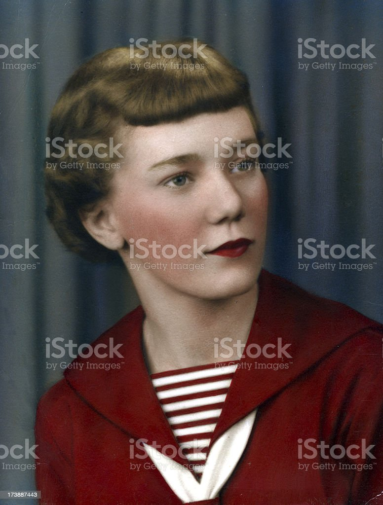 Attractive 50's woman   View images from same session royalty-free stock photo