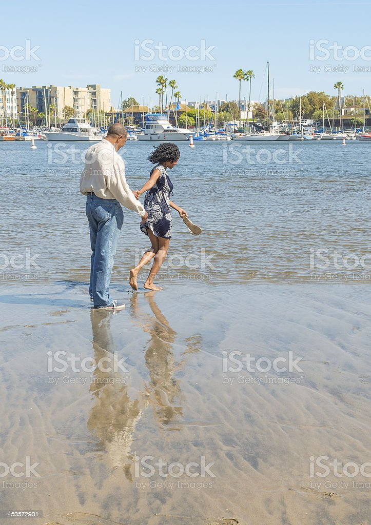 Attractive African American Couple reflections stock photo