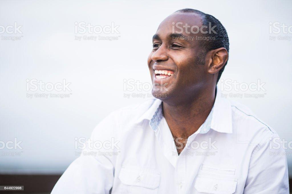 Attractive African American Man Portrait stock photo