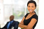 attractive african businesswoman