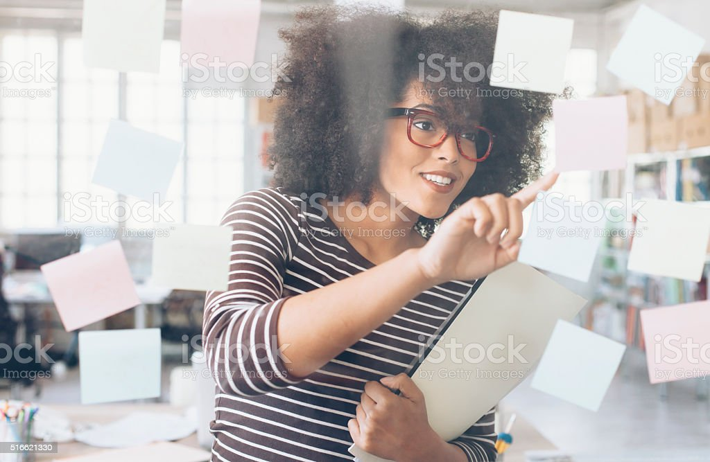 Attractive african ethnicity businesswoman stock photo
