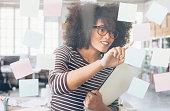 Attractive african ethnicity businesswoman