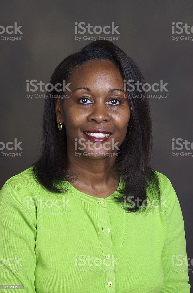 Attractive African-American Woman stock photo