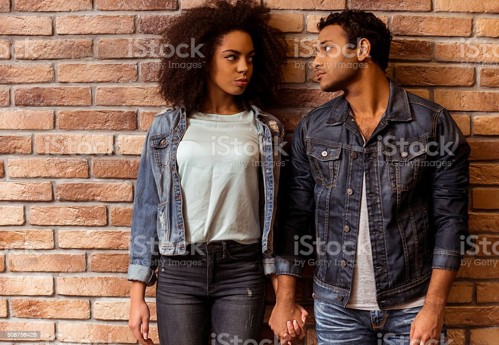 Attractive Afro-American couple stock photo