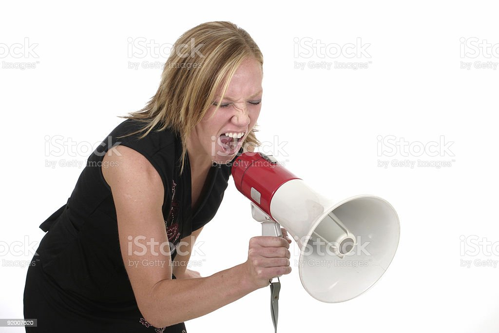 Attractive Aggressive Blonde Business Woman royalty-free stock photo