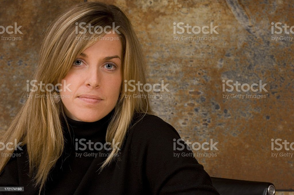 Attractive and Ambitious Young Businesswoman royalty-free stock photo