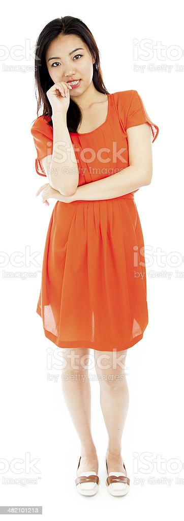 Attractive asian 20 years old isolated on white background royalty-free stock photo