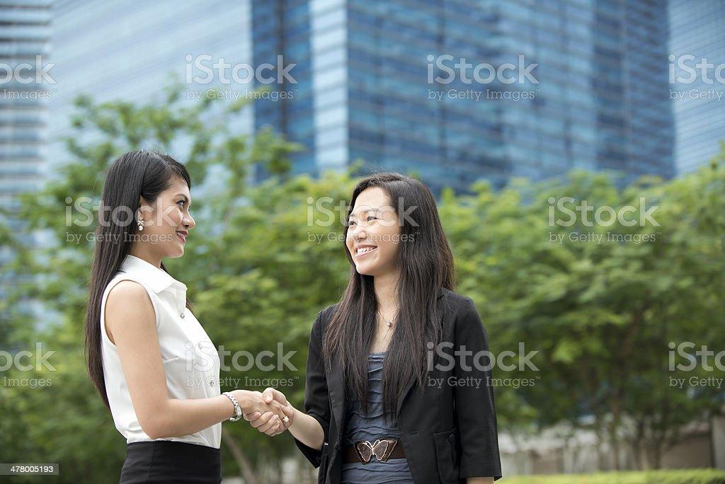 Attractive Asian Businesswomen stock photo