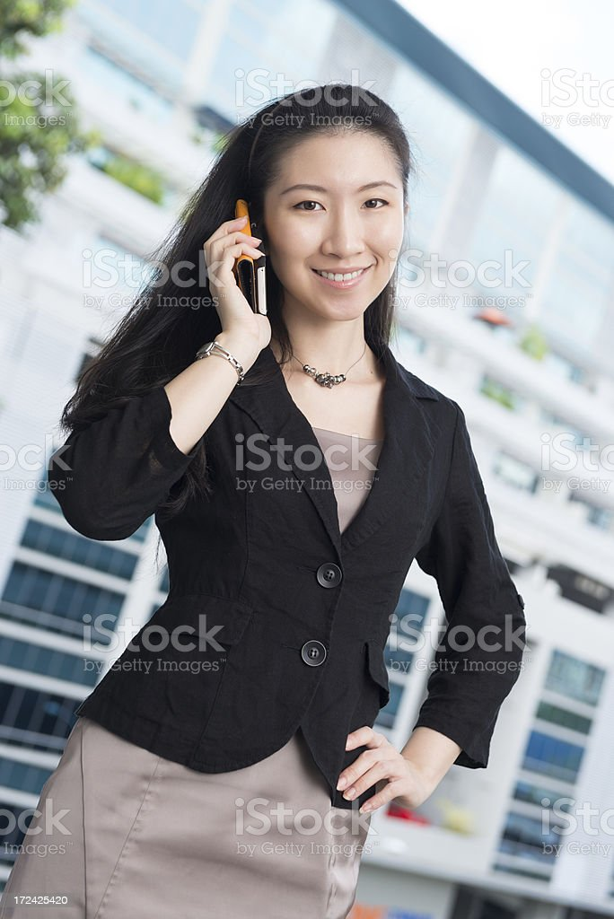 Attractive Asian Chinese female executive royalty-free stock photo