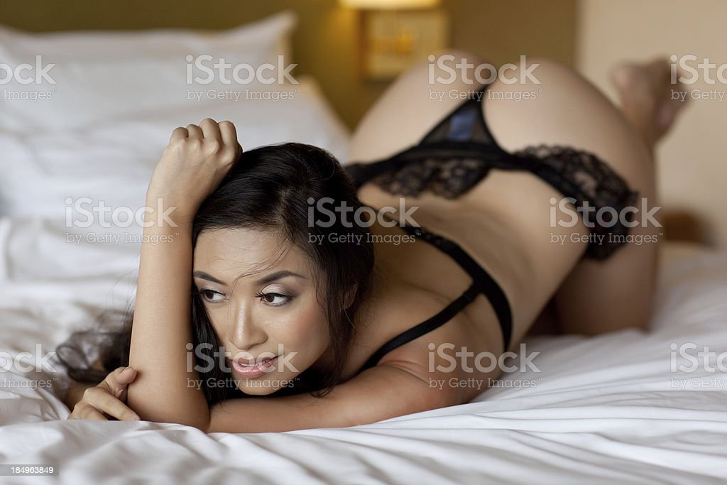 Attractive asian female model royalty-free stock photo