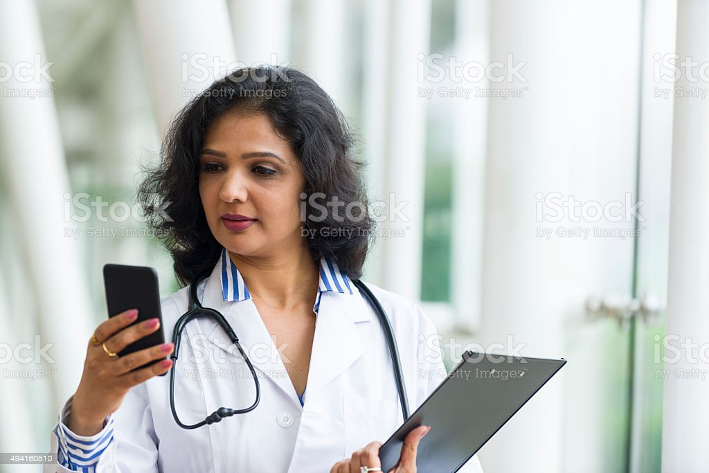 Attractive Asian Health Care Professional stock photo